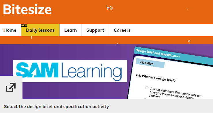 BBC Bitesize Daily – in partnership with SAM Learning